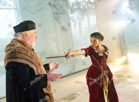 Pip Donaghy as Antonio and Ayesha Antoine as Aquilina