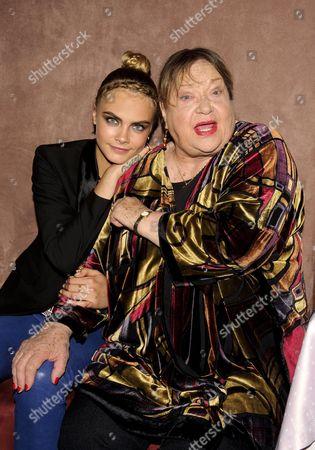 Cara Delevingne and Sylvia Syms