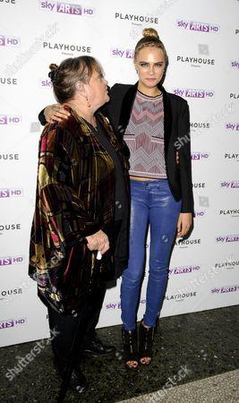 Sylvia Syms and Cara Delevingne