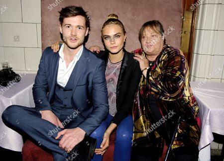 Stock Image of Thomas Ainsley, Cara Delevingne and Sylvia Syms