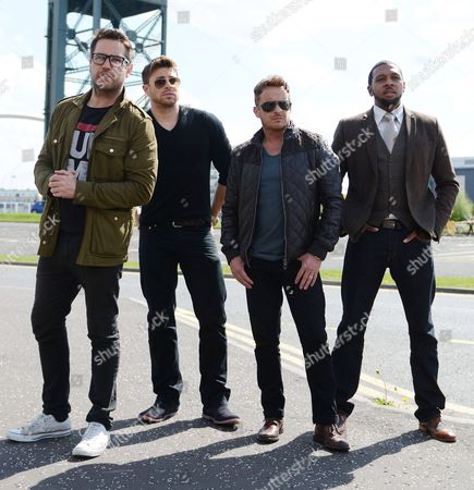 Duncan James (Blue), Jimmy Constable (911), Rahsaan J (Damage) and Anthony Kavanagh (5th Story)