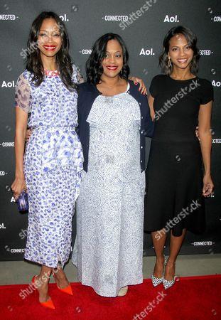 Zoe Saldana, Mariel Saldana Nazario and Cisely Saldana