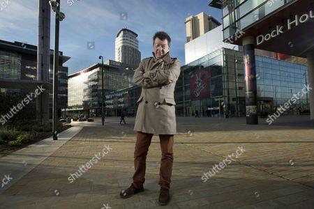 Editorial image of Stuart Maconie at MediaCityUK, Manchester, Britain - 09 Dec 2013