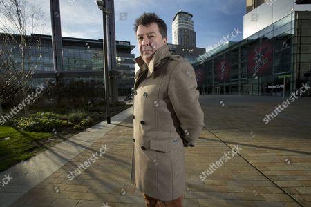 Editorial photo of Stuart Maconie at MediaCityUK, Manchester, Britain - 09 Dec 2013