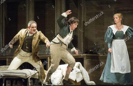 Stock Image of Gerald Finley as Count Almaviva, Anna Bonitatibus as Cherubino,  Camilla Tilling as Susanna