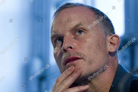 U.S. artist Matthew Barney at a press conference in the Haus der Kunst, Munich, Upper Bavaria, Bavaria, Germany