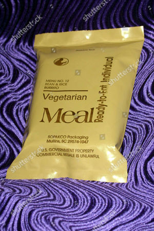MRE VEGETARIAN MEAL READY TO EAT OFFERED TO THE TROOPS