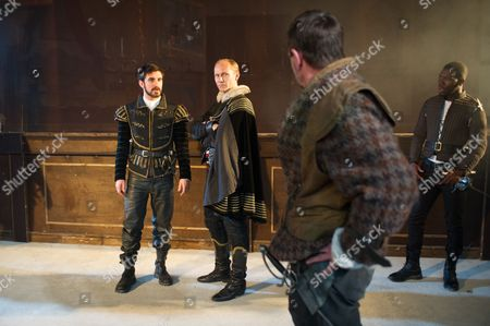 Ferdinand Kingsley (Pierre), James Hillier (Bedamore), Martin Troakes (Renault) and Dwane Walcott (Eliot)