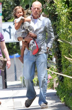 Editorial picture of Bruce Willis and daughter Mabel out and about in Los Angeles, America - 29 Apr 2014