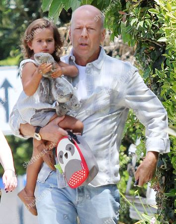 Editorial photo of Bruce Willis and daughter Mabel out and about in Los Angeles, America - 29 Apr 2014