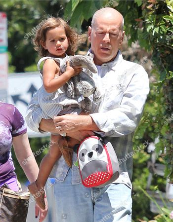 Stock Picture of Bruce Willis and Mabel Ray Willis