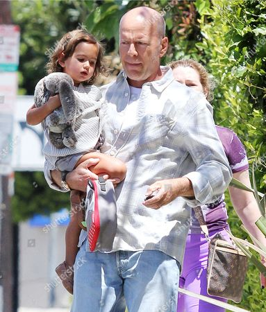 Editorial image of Bruce Willis and daughter Mabel out and about in Los Angeles, America - 29 Apr 2014