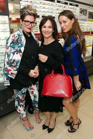 Gemma Sheppard, Arlene Phillips and Alana Phillips