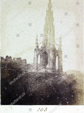 Picture of the The Scott Memorial from the Edinburgh Calotype Club 1840's sale at Dominic Winters in Swindon