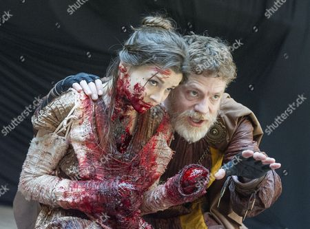 Flora Spencer-Longhurst as Lavinia, William Houston as Titus Andronicus