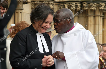 Stock Image of The Dean of York, The Very Reverend Vivienne Faull and The Archbishop of York, Dr John Sentamu