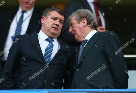 England manager Roy Hodgson talks with Chelsea chief executive Ron Gourlay