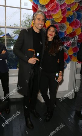 George Lamb and Karima Adebibe were photographed at the launch of The House of Peroni, a month long celebration of contemporary Italian food, design and style at 64 Lincoln's Inn Fields, Holborn