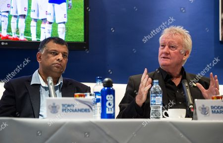 QPR Chairman Tony Fernandes and former player Rodney Marsh answers questions at a QPR Fan Forum