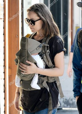 Olivia Wilde with son Otis Alexander Sudeikis