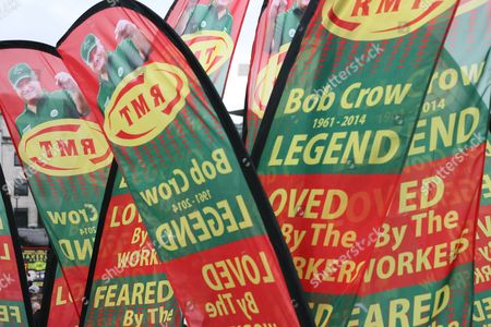 Bob Crow tribute banners