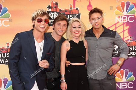 Bea Miller with Keaton Stromberg, Wesley Stromberg and Chad Drew