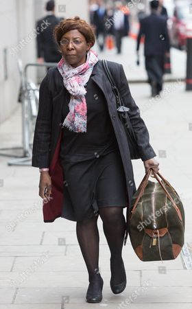 Constance Briscoe arrives at the Old Bailey