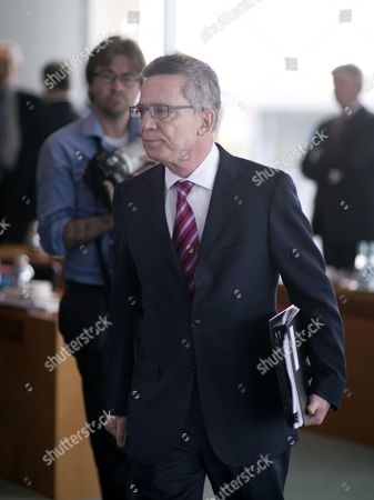 Stock Image of Lothar de Maiziere, Federal Minister of the Interior, CDU