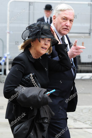 Guests Arrive At The North Entrance Of St Pauls Cathedral In The City Of London For Baroness Thatchers Funeral. London Uk 17/04/2013 Pictured Conrad Black.