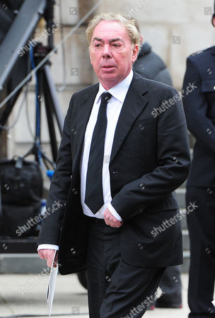 Guests Arrive At The North Entrance Of St Pauls Cathedral In The City Of London For Baroness Thatchers Funeral. London Uk 17/04/2013 Lord (andrew) Lloyd-webber.