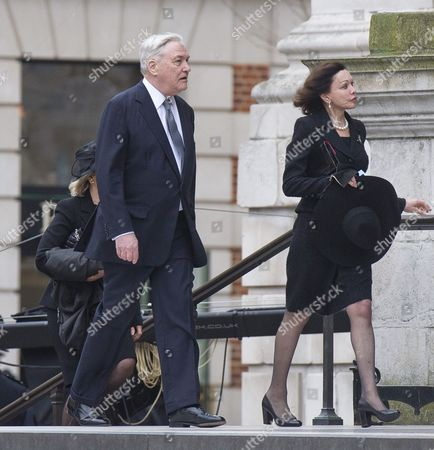 Guests Including Conrad Black Attending The Funeral Of Baroness Thatcher At St Paul's Cathedral In London Attended By Family And Friends And Many Former Parliamentary Colleagues. 17.4.13.