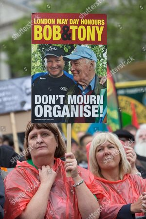Activists pay special tribute to Bob Crow and Tony Benn