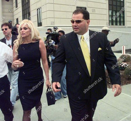 Victoria Gotti and her husband Carmine Agnello after a bail hearing for her brother, John Gotti Jnr