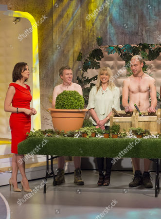 Stock Picture of Andrea McLean and Jo Wood with The Grubby Gardeners - Andrew Wain, Andrew Lane, Darran Jacques and Michael Perry.