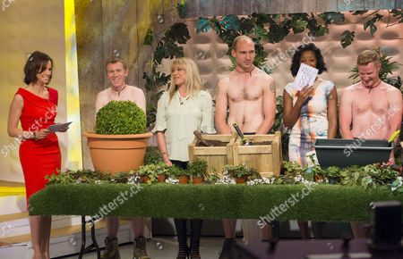 Andrea McLean, Jo Wood and Jamelia with The Grubby Gardeners - Andrew Wain, Andrew Lane, Darran Jacques and Michael Perry.