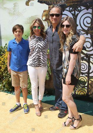 James Belushi, wife Jennifer Sloan, daughter Jamison and son Jared