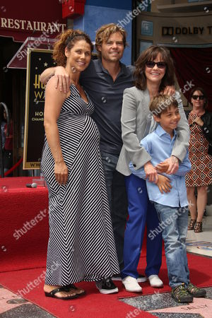 Stock Image of Sally Field, Son Eli Craig with wife Sasha Williams and son Noah