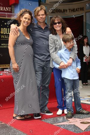 Stock Picture of Sally Field, Son Eli Craig with wife Sasha Williams and son Noah