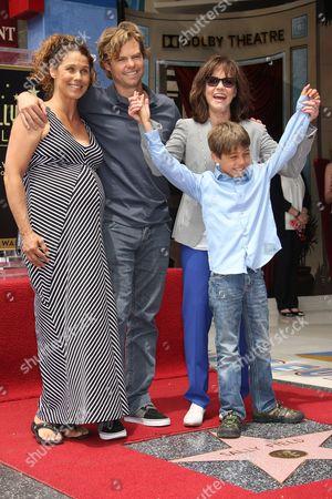 Sally Field, Son Eli Craig with wife Sasha Williams and son Noah