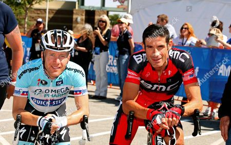 Levi Leipheimer OPQS) and George Hincapie (BMC) both USA stars