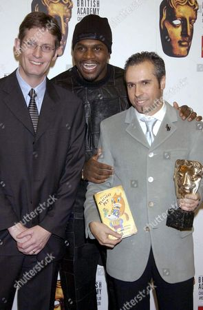 GARY BASEMAN (TEACHERS PET) WITH AUDLEY HARRISON AND HEAD OF DISNEY UK PAUL ROBINSON, INTERNATIONAL AWARD WINNER
