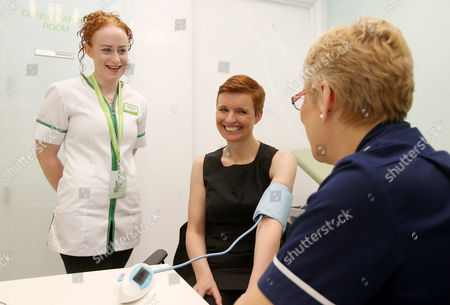 Leading health and beauty retailer, Superdrug, launches its new Wellbeing concept store in Banbury, Oxfordshire.  Dr Pixie McKenna tries out one of the new treatment rooms as she officially opens the store.