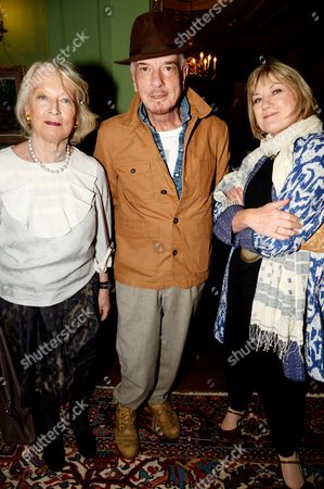 Stock Picture of Lucia van der Post, Nicky Haslam and guest