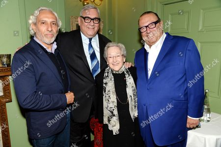 Editorial photo of Celebrating the publication of 'Roast Lamb in the Olive Groves' a Mediterranean cookbook by Belinda Harley, at L'Escargot, London, Britain - 06 May 2014