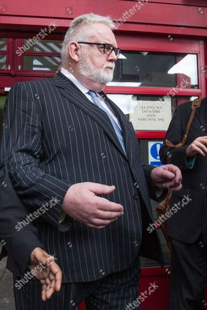 Stock Photo of Paul Flowers leaves Leeds Magistrates Court