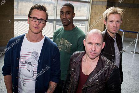 "Ritchie Neville from Five, Simon Webbe from Blue, Simon ""Spike"" Dawbarn from 911 and Adam Rickitt"