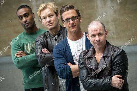 "Simon Webbe from Blue, Adam Rickitt, Ritchie Neville from Five and Simon ""Spike"" Dawbarn from 911"