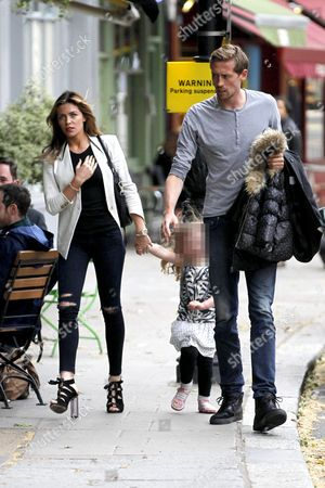 Abigail Clancy, Sophia Ruby Crouch and Peter Crouch