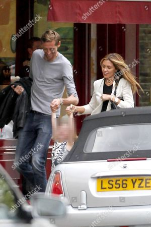 Peter Crouch, Sophia Ruby Crouch and Abigail Clancy