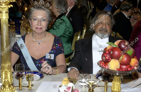 Princess Christina with V S Naipaul